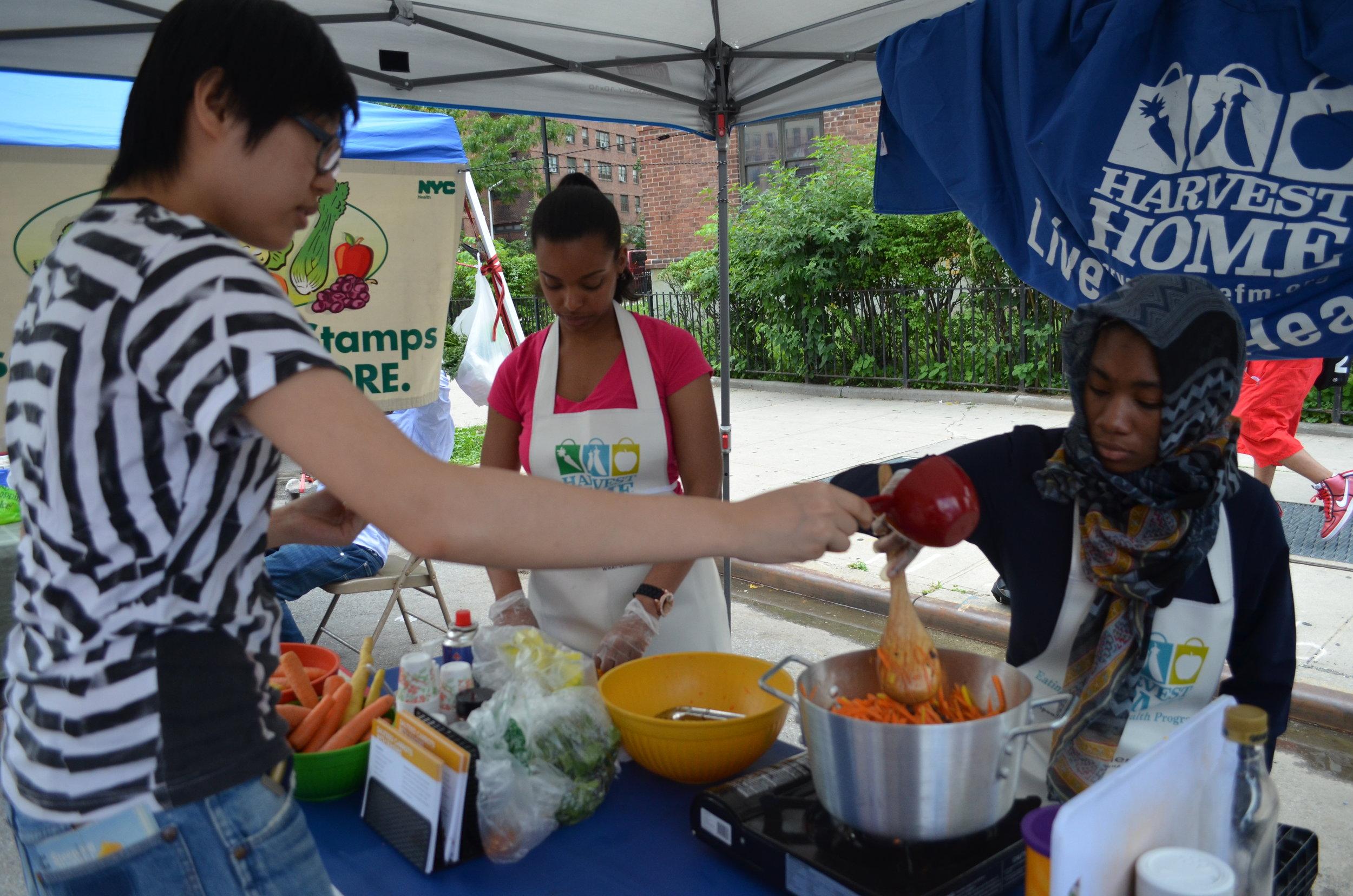 Cooking Demos - Sauteed Carrots with Raisins (15).JPG