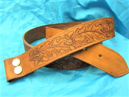 A belt full of memories - An elderly gentleman commissioned this belt as a replica of one that had been made for him on one of his many sea voyages by a fellow mariner.