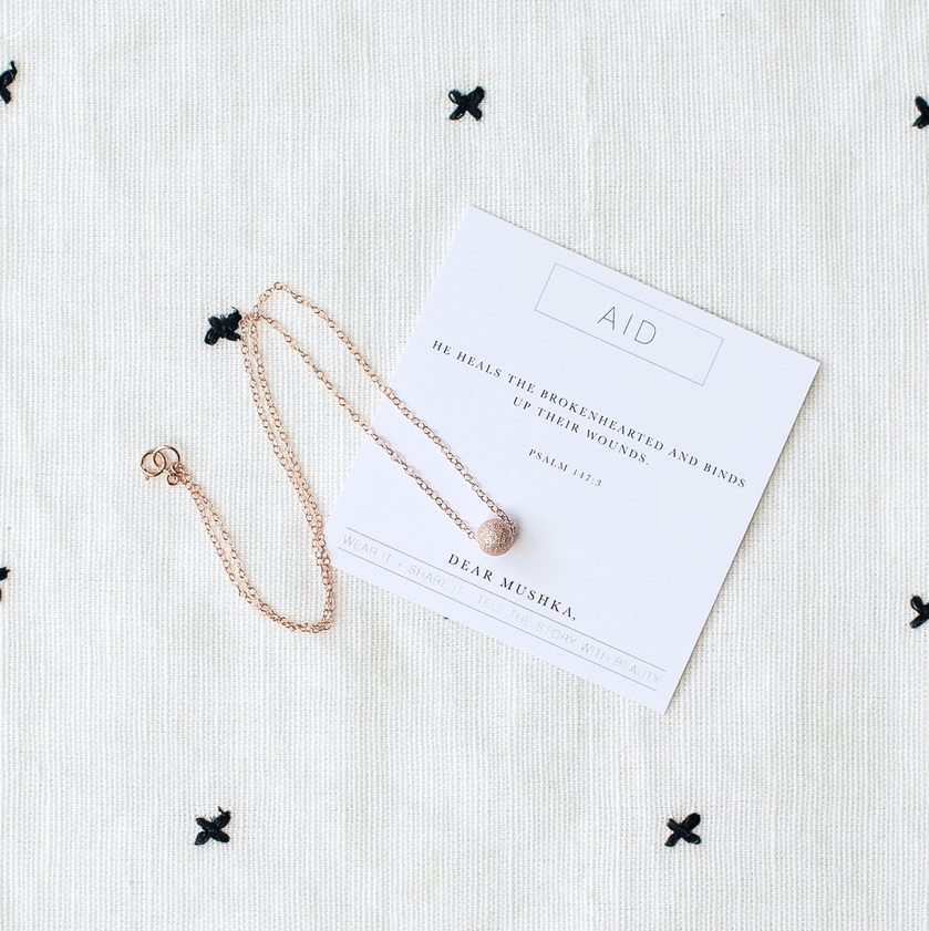 Aid (Miscarriage) Psalm 147:3 Necklace - Dear Mushka
