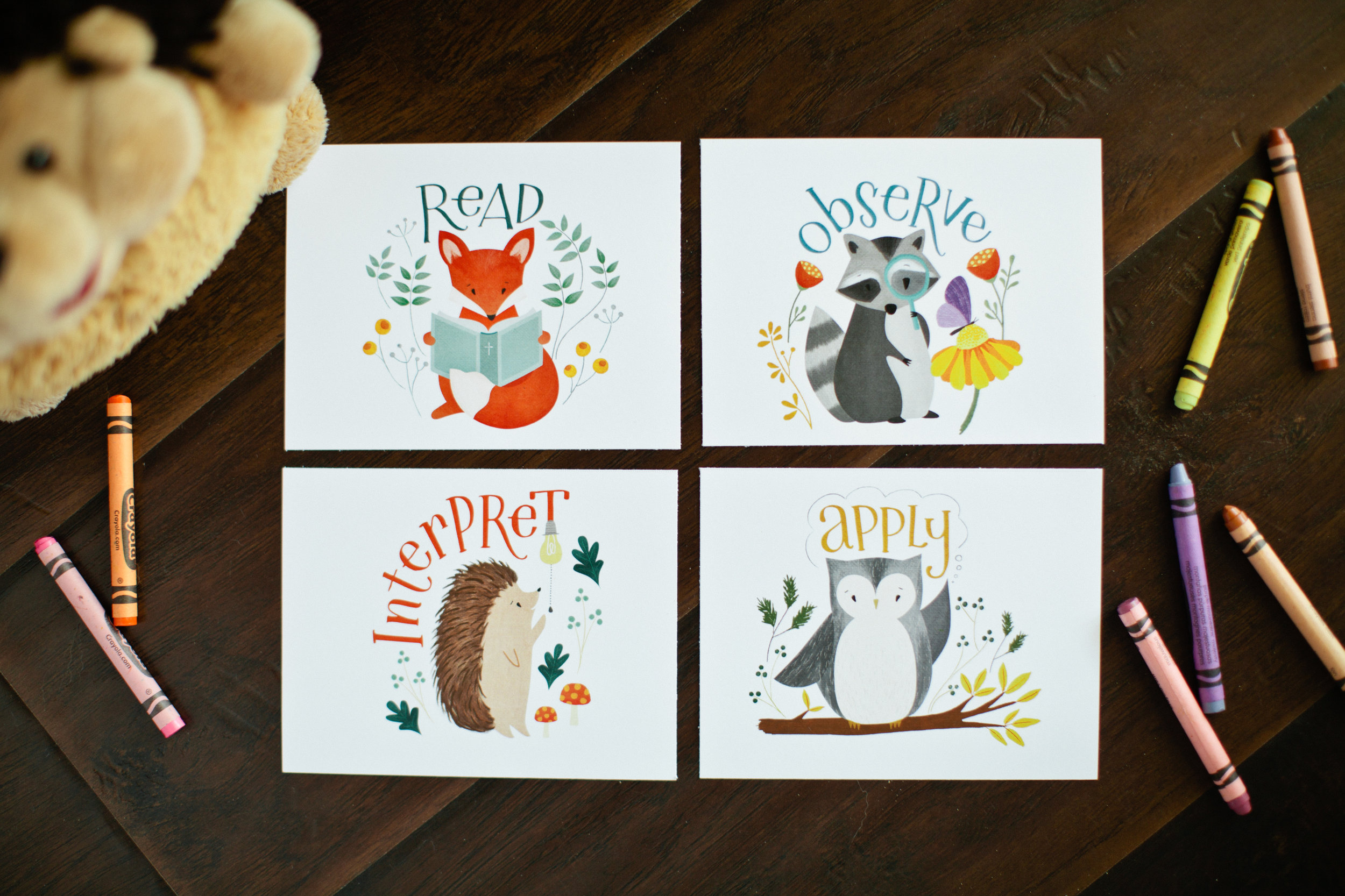 FREE | KID'S ABIDE CARDS -