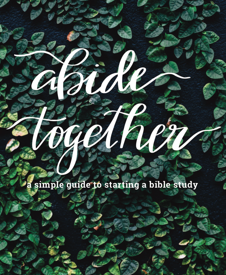 Abide Together - A Simple Guide to Starting a Bible Study - It can feel overwhelming to start a Bible study, but we promise it doesn't have to be. Our guide covers the basics like what and why, as well as the harder parts, like who and how. Our hope is to equip you with practical how-tos so you can dig into God's word with moms already around you.