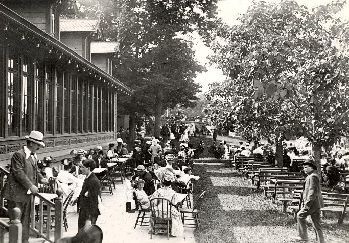 One of Milwaukee's late-19th century Beer Gardens in the Village of Whitefish Bay.