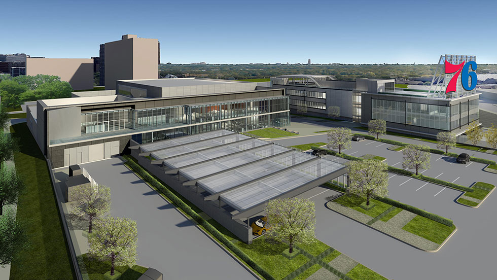76ers Training Center and Corp Hq's -  Completed    (photo via NBA)