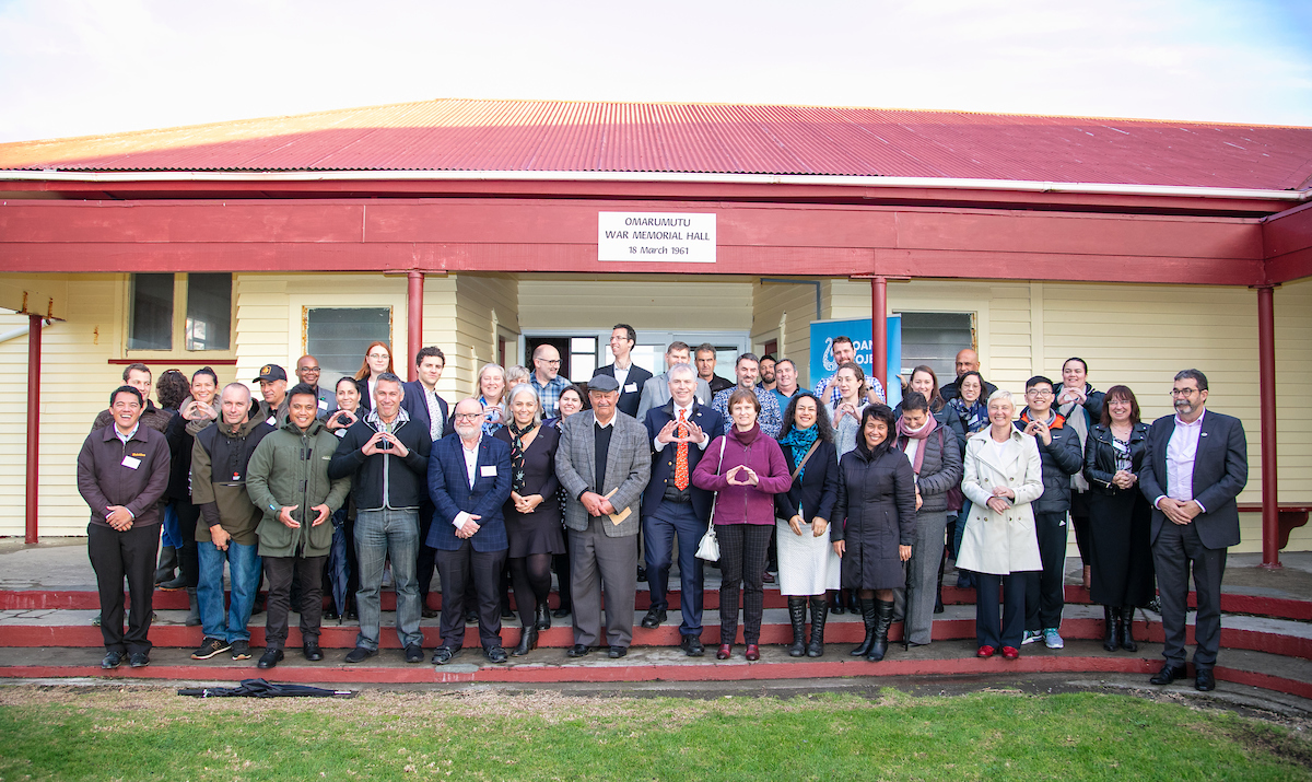 Moana Project partners – MetService's oceanographic division MetOcean Solutions with 14 partner organisations: including Whakatōhea Māori Trust Board, all of NZ's Oceanographic institutions, with technology partner Zebra-Tech and funders Ministry of Business, Innovation and Employment. Photo by Simone Magner.