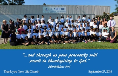 Gardere Community Christian School - GCCS was founded by Dan and Nancy Zito and New Life Church had the privilege of providing the property where the school is housed.