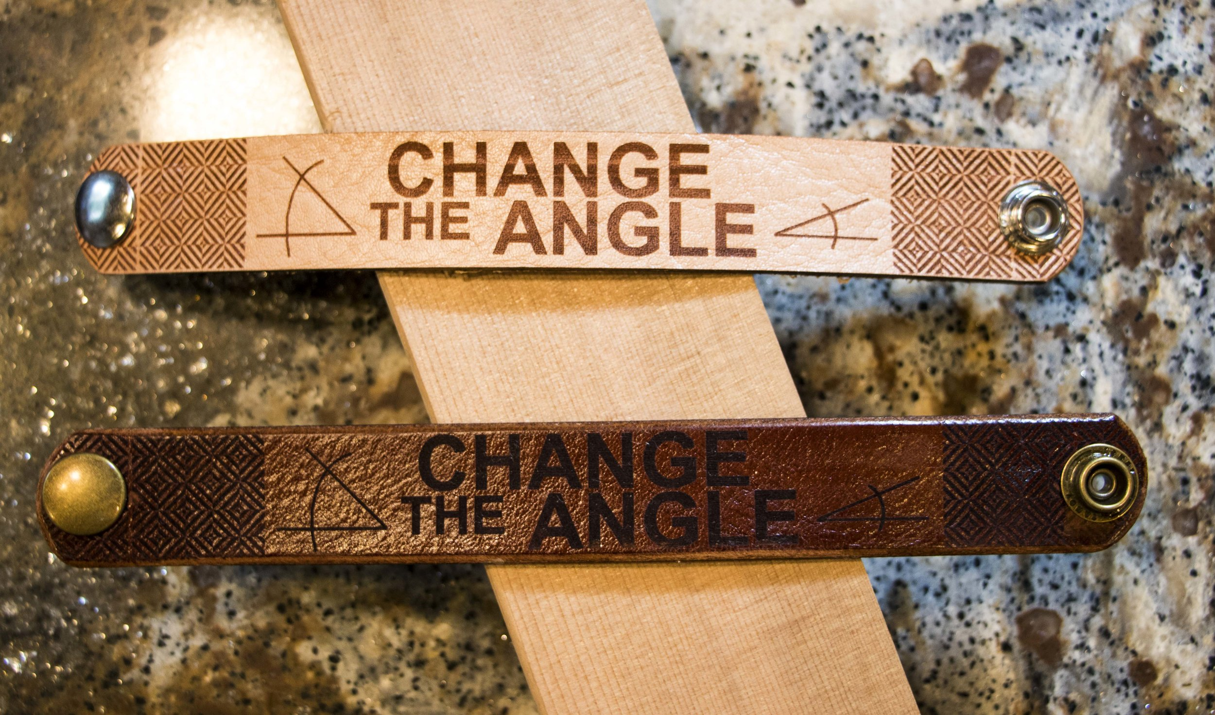 Change the Angle, Leather. Click image to buy.
