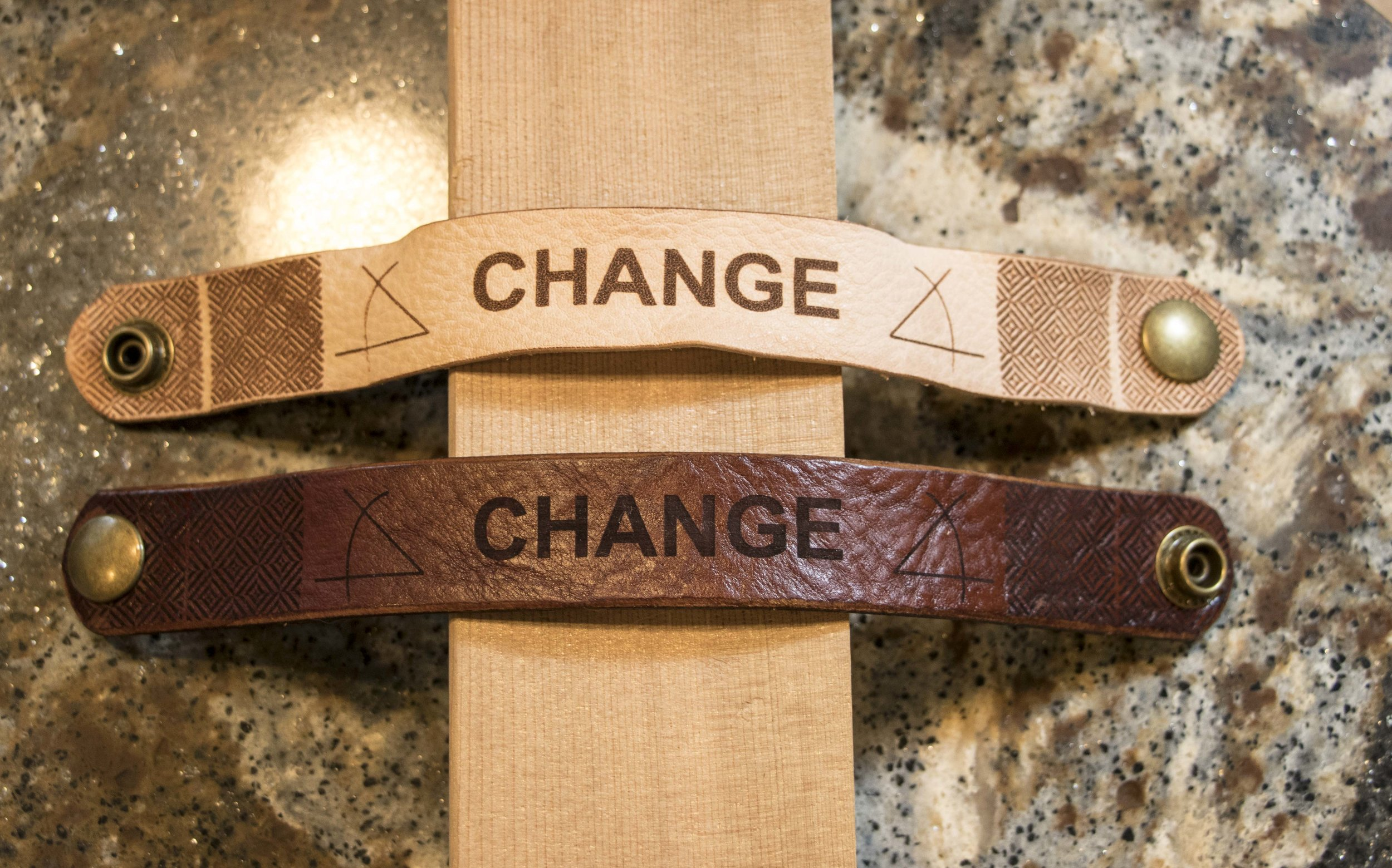 Change (the Angle), Leather. Click image to buy.