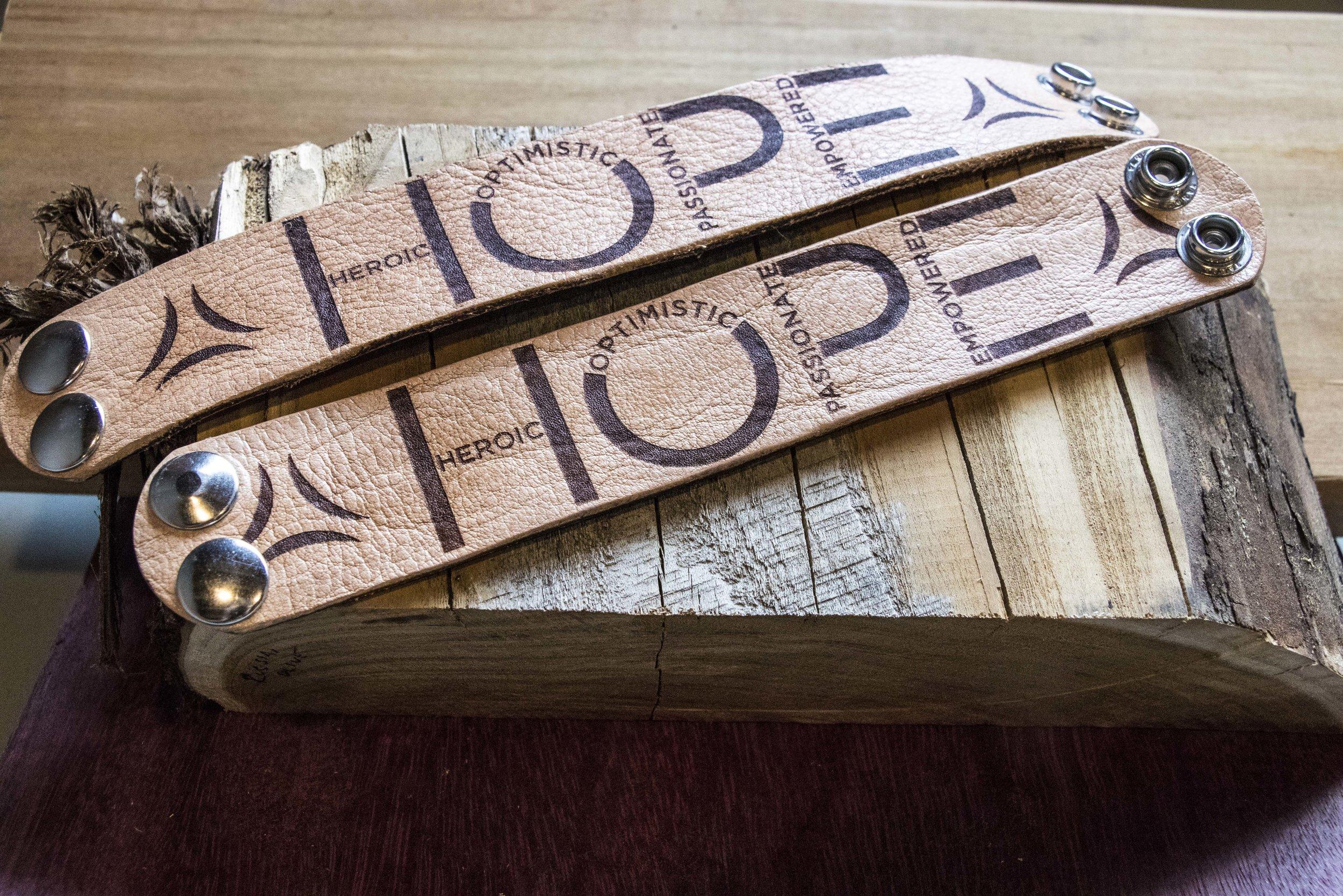 HOPE Storyband, Leather. Click image to buy.