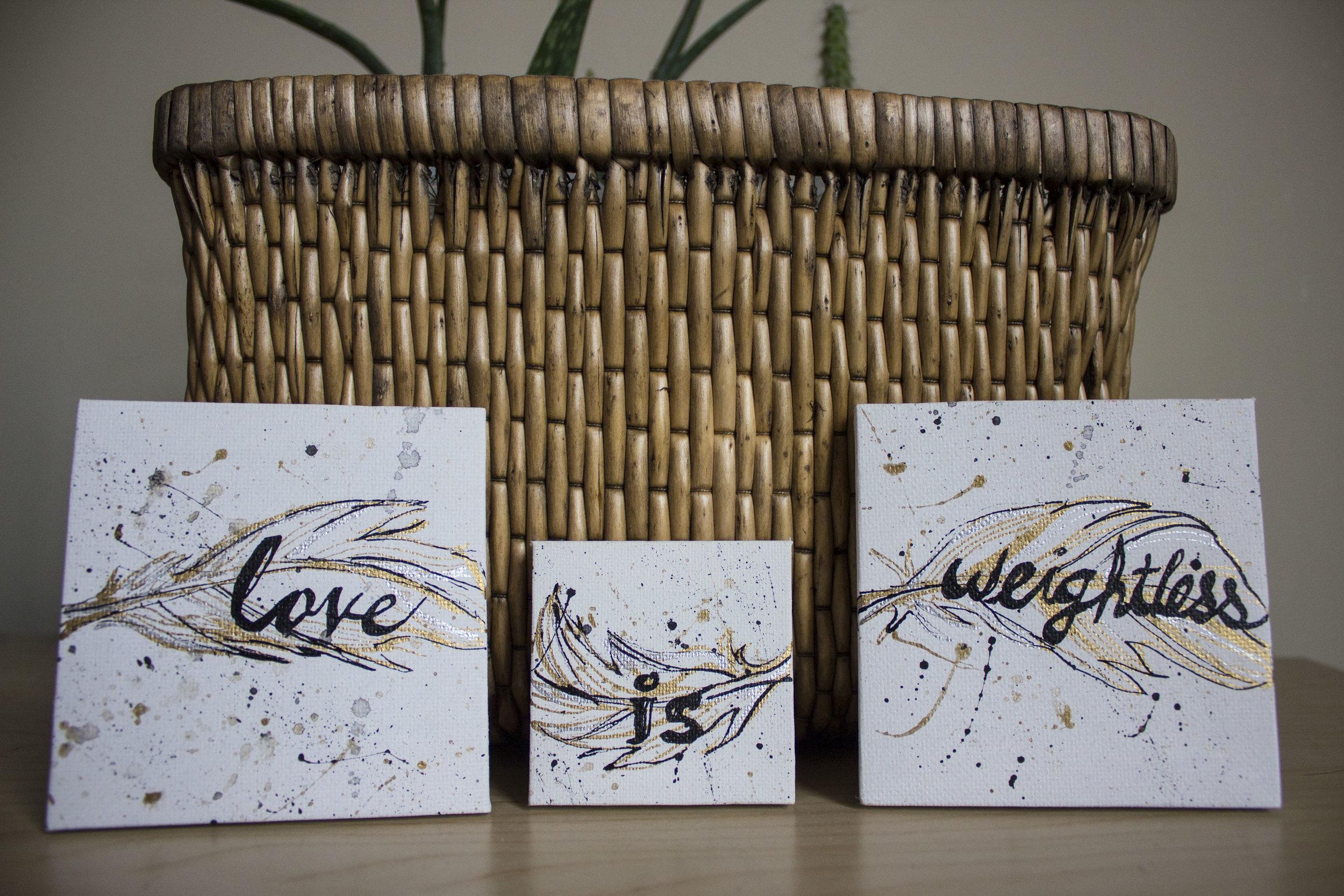 Love is Weightless 3-piece set