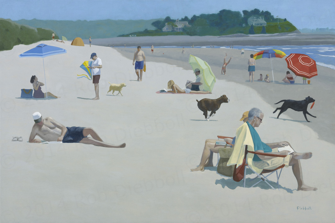 Parsons Beach, 28x42, oil on linen,