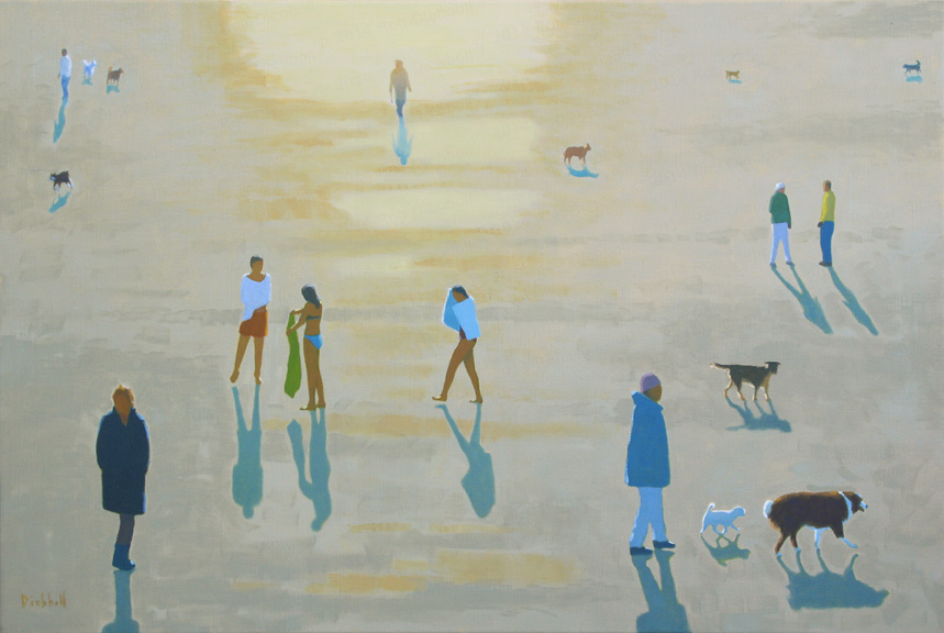 New Year's Swim, oil on linen, 24 x 36