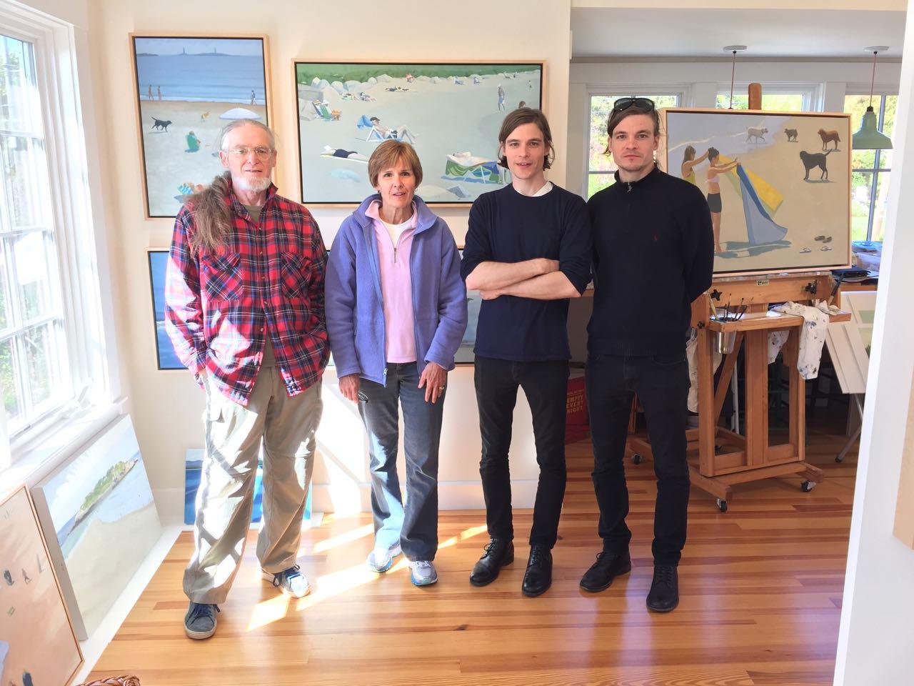 Steve, Cheryl, Mike, and Dan visit the studio