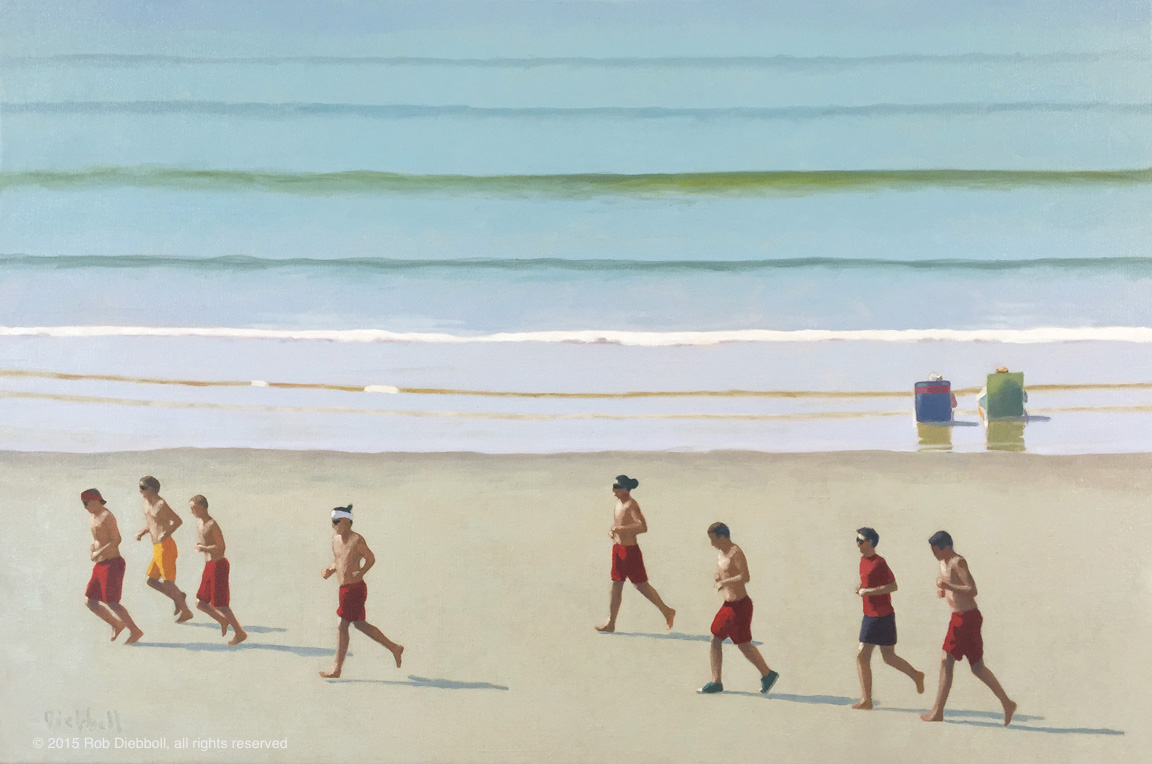 Lifeguards, 24x36, oil on linen