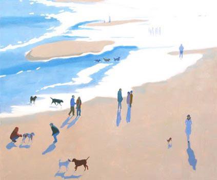 Winter Beach, 30x36, oil on linen