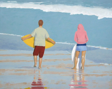 """Skimboarding   20"""" x 25""""  limited edition of 50  $400"""