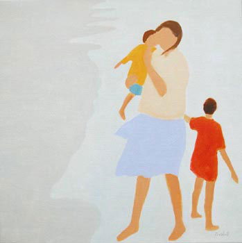 """Beach Mother   24"""" x 24""""  limited edition of 50  $400"""