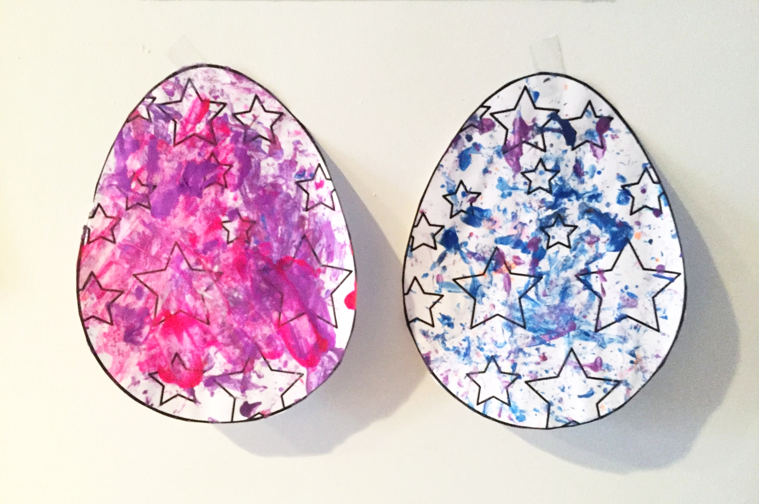 Painted Paper Eggs