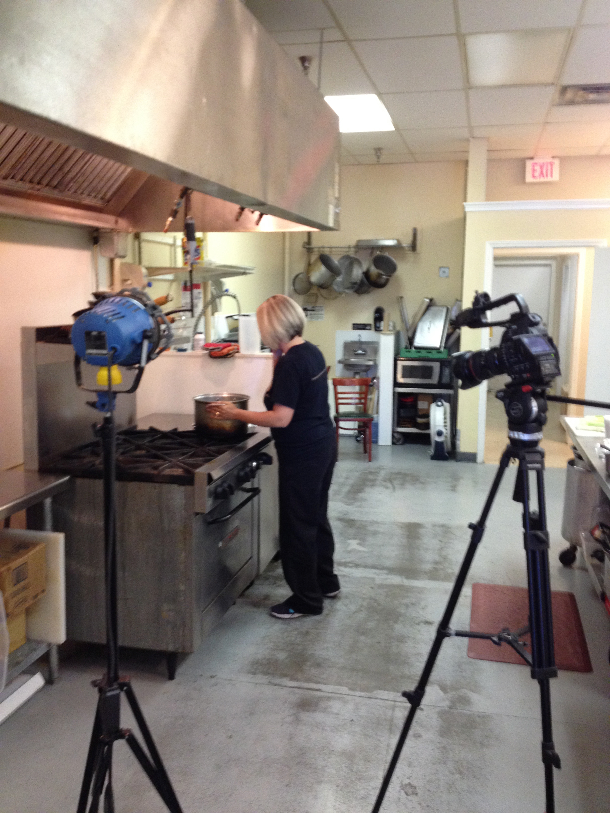 First Commercial Shoot for Wendy's Kitchen