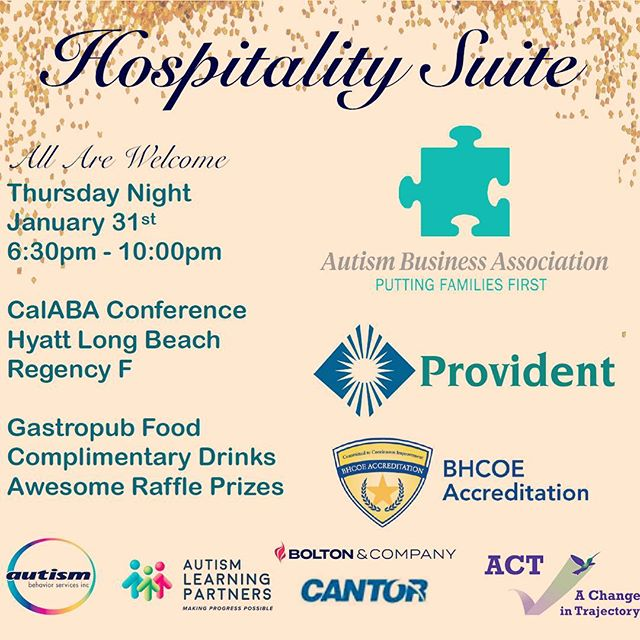 SHARE WITH STAFF & COLLEAGUES - ABA Hospitality Suite is TONIGHT with Huge Raffles, Complimentary Drinks, Great Food & Music - CalABA Conference