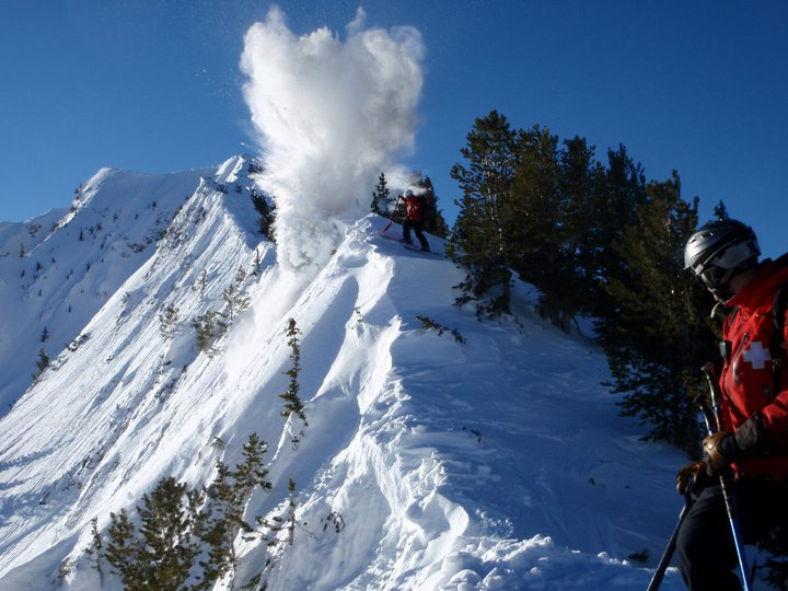Cornice mitigation on Fantasy Ridge, Solitude Mountain Resort.