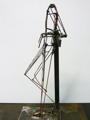 """Rough Sketch"" welded of steel rods."