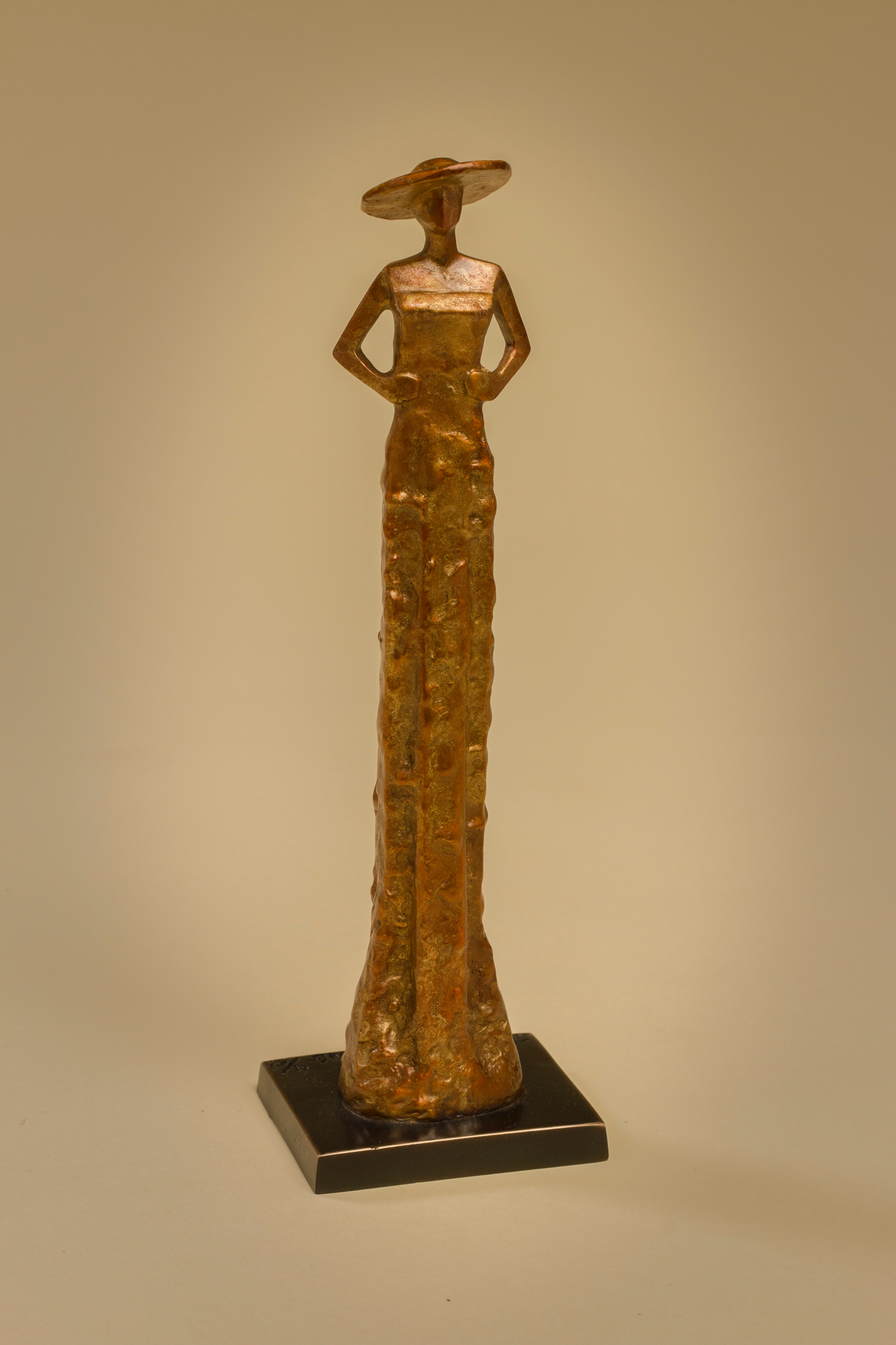 """Patience Is a Virtue   8.5"""" H x 2.5"""" W x 2"""" D Bronze edition of 50"""