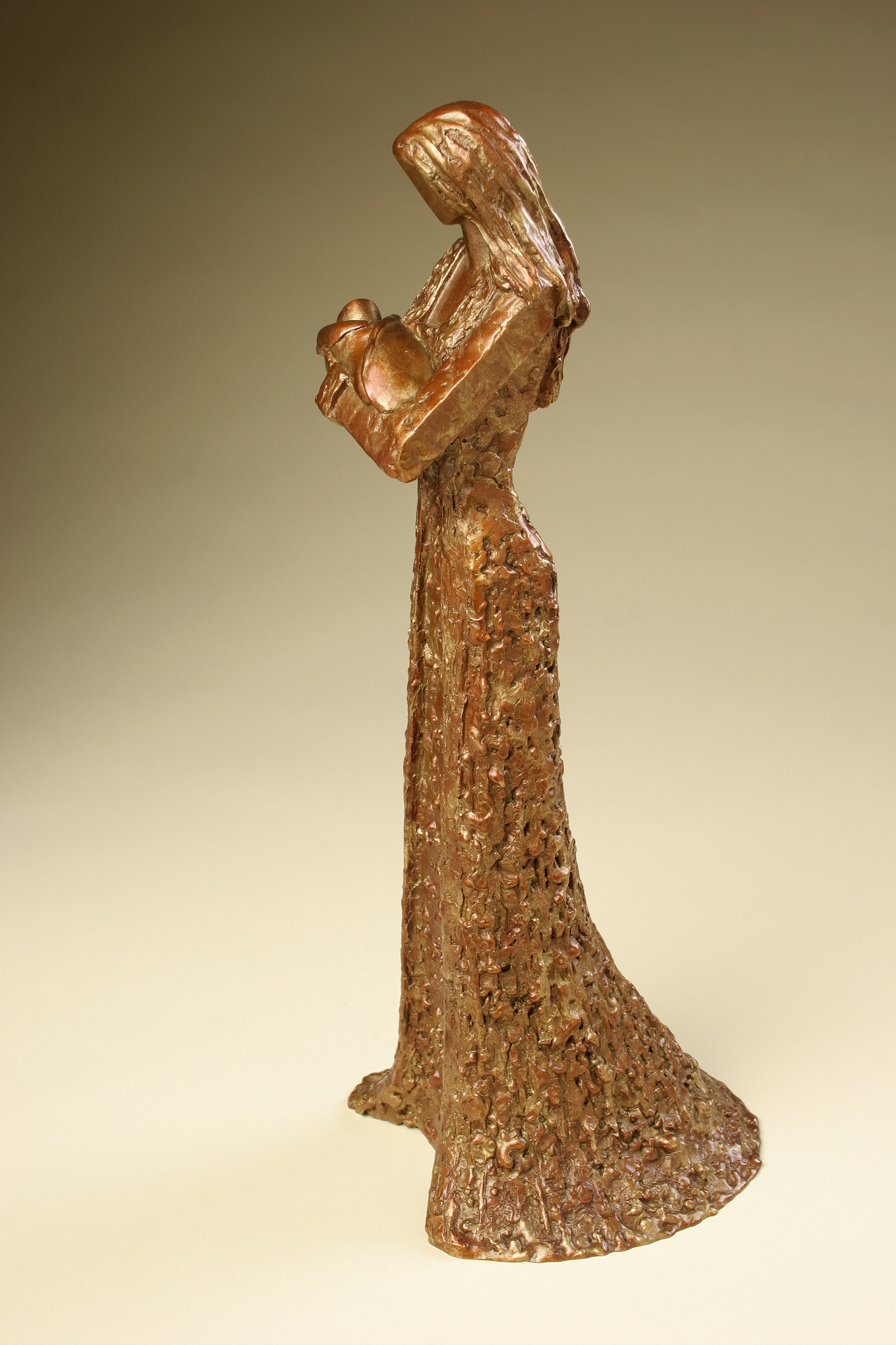 """Lullaby   12.5"""" H x 5"""" W x 5"""" D Bronze edition of 25"""