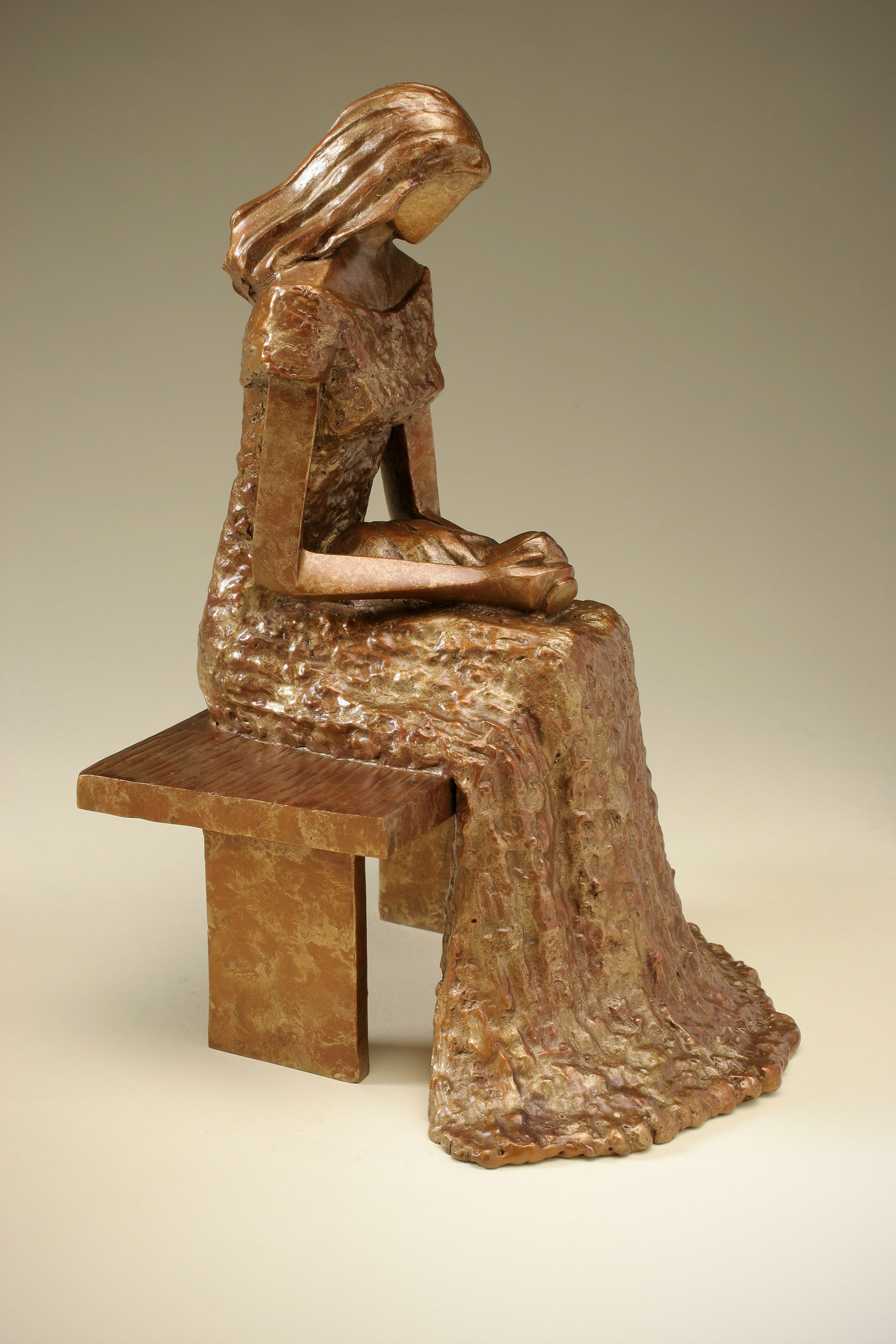 """In the Garden   11"""" H x 7"""" W x 7.5"""" D Bronze edition of 25"""