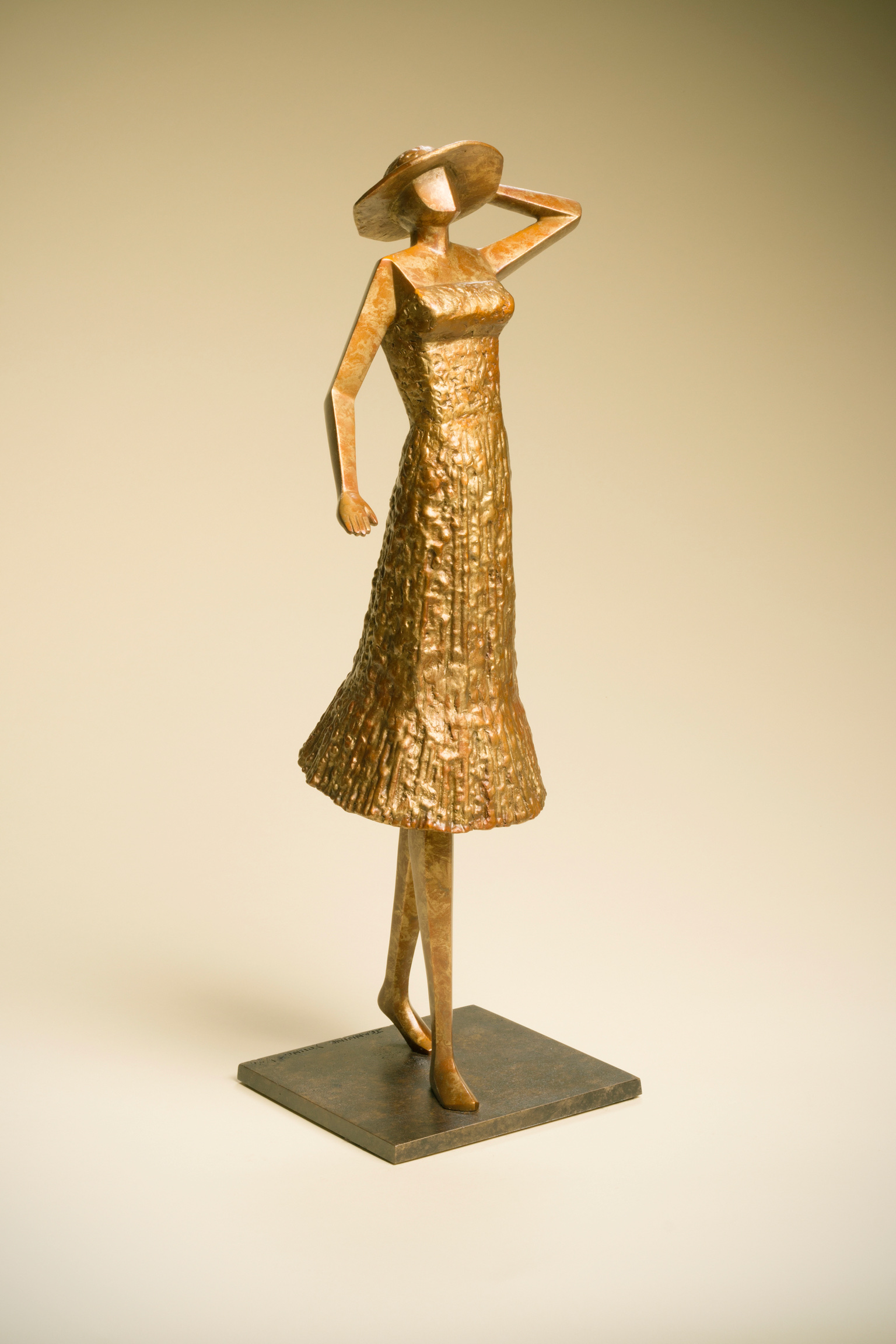 """Young@Heart   20"""" H x 6"""" W x 6"""" D Bronze ed 25"""
