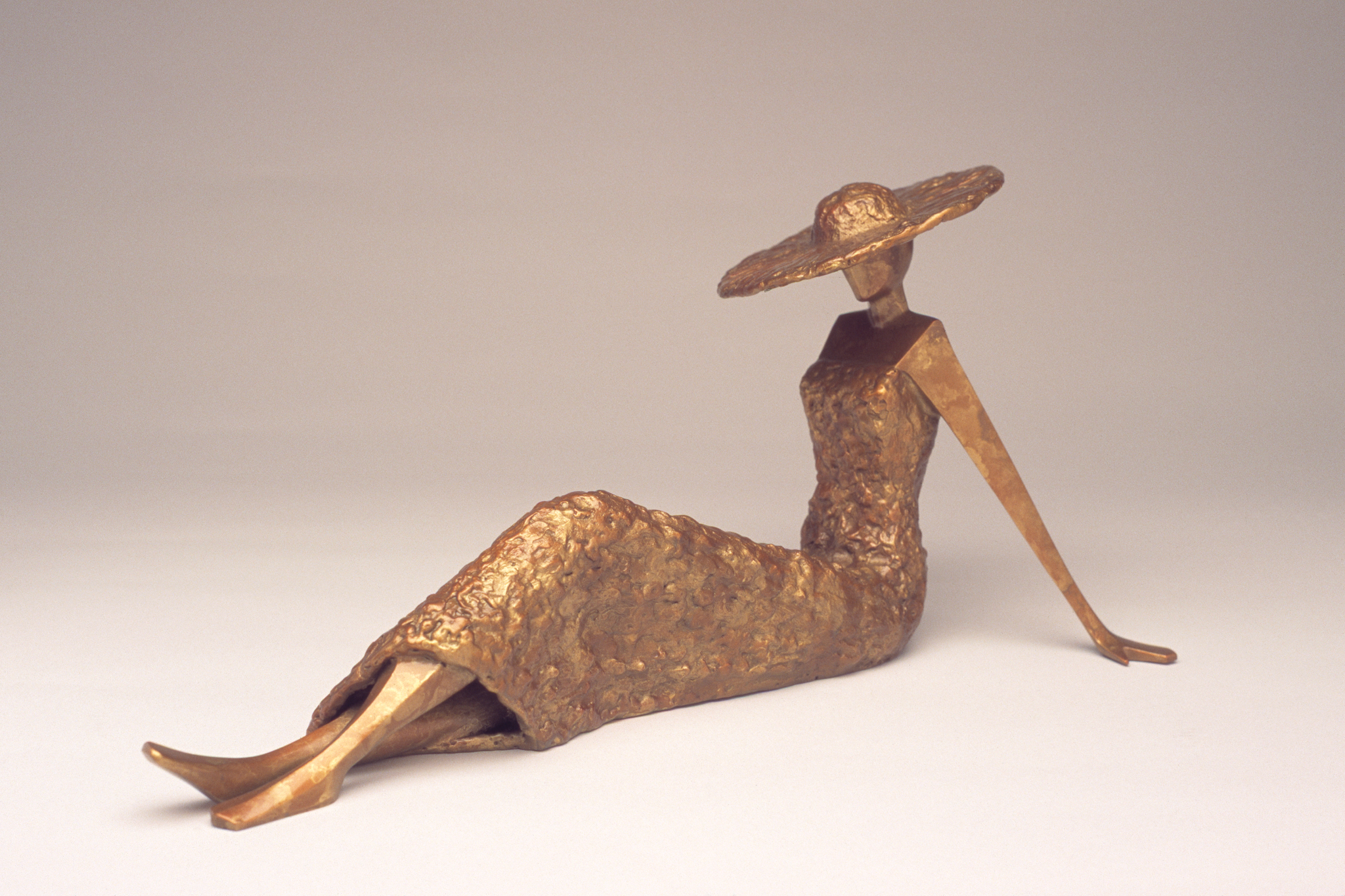 """Summer   15"""" L x 6.75"""" H x 7"""" D Bronze edition of 25 *SOLD OUT"""