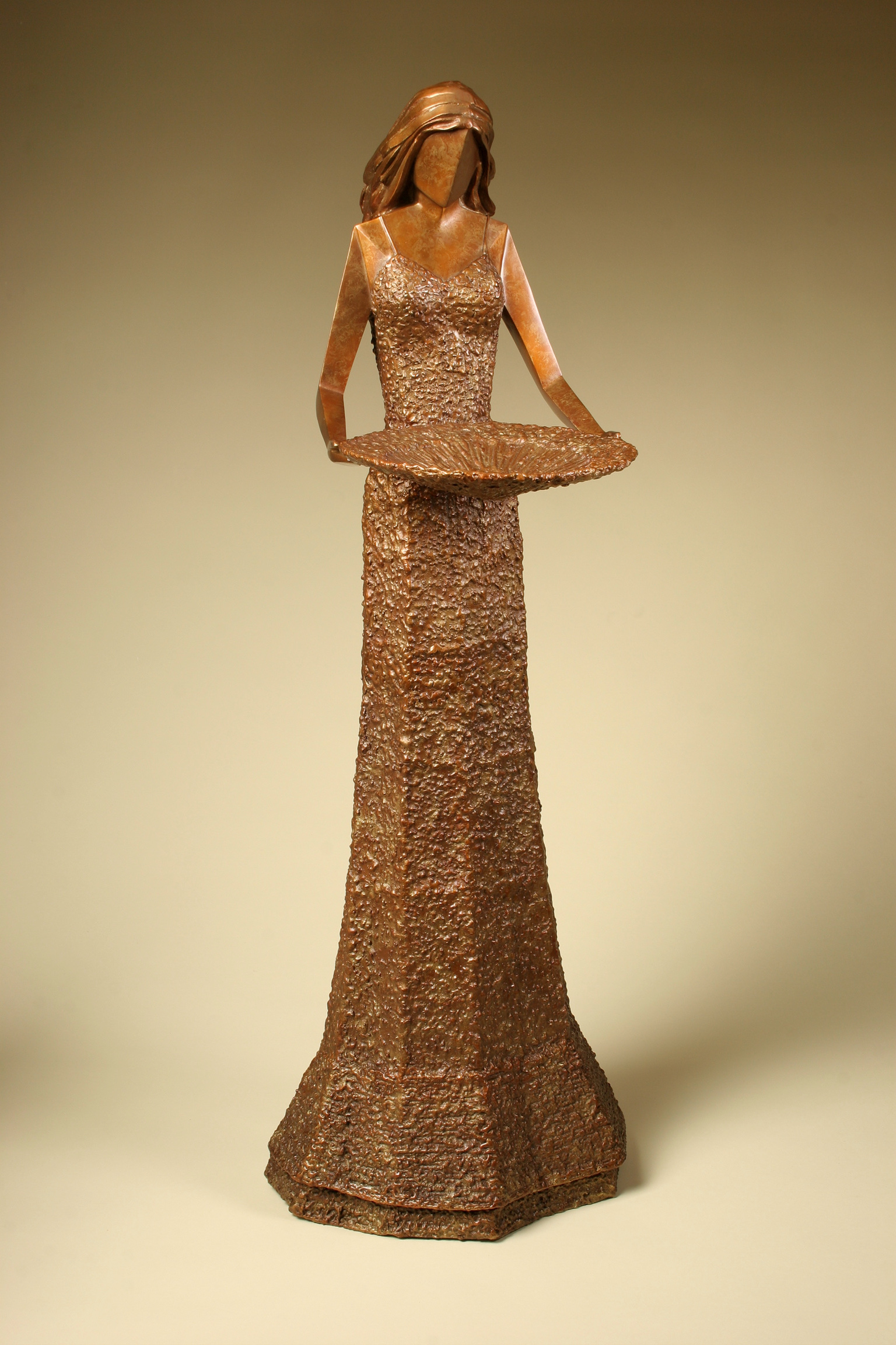 """Grace    35"""" H x 13"""" W x 11"""" D Bronze edition of 25   (Click For More Information)"""