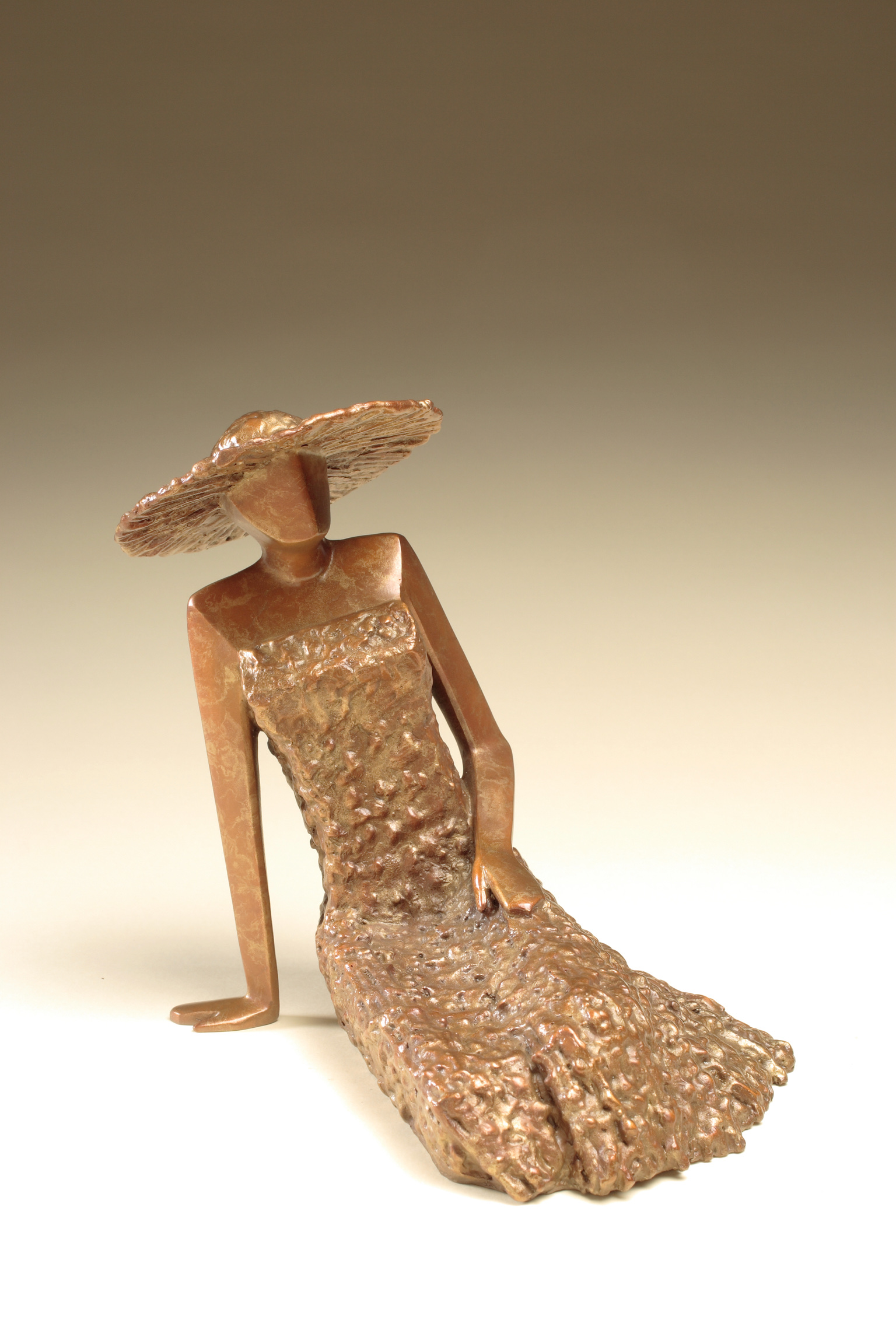 """In The Moment   8"""" H x 8"""" D x 8"""" W Bronze edition of 25"""