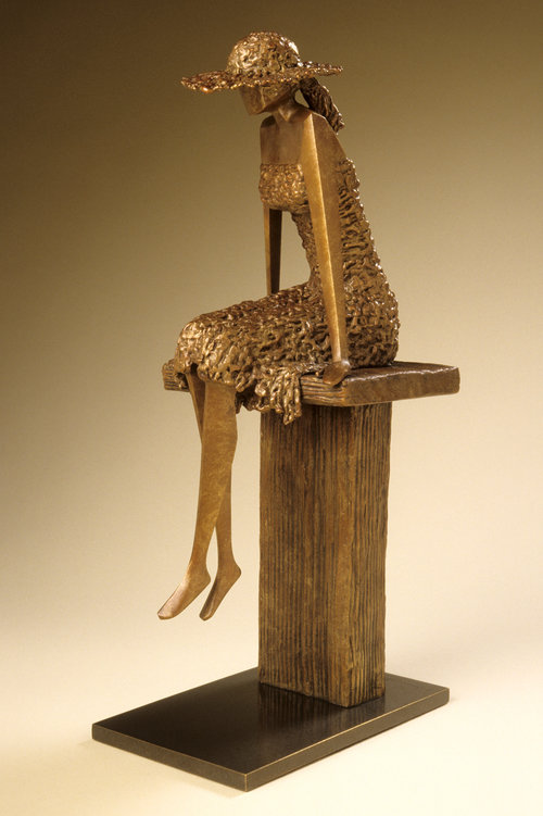 """On the Dock   17"""" H x 8"""" D x 5"""" W Bronze edition of 25"""