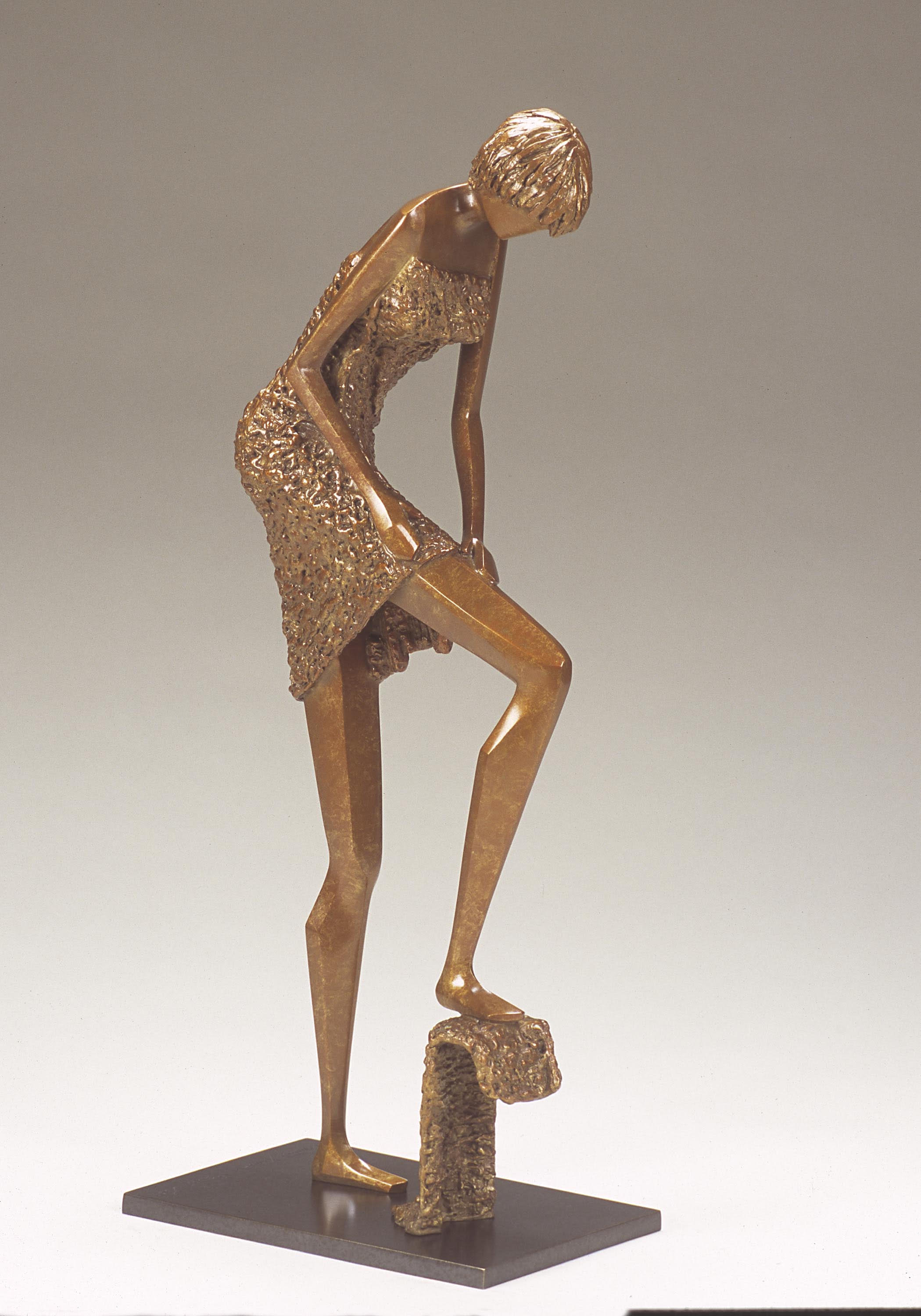 """My Time   20"""" H x 8.5"""" D x 5.5"""" W Bronze edition of 30"""