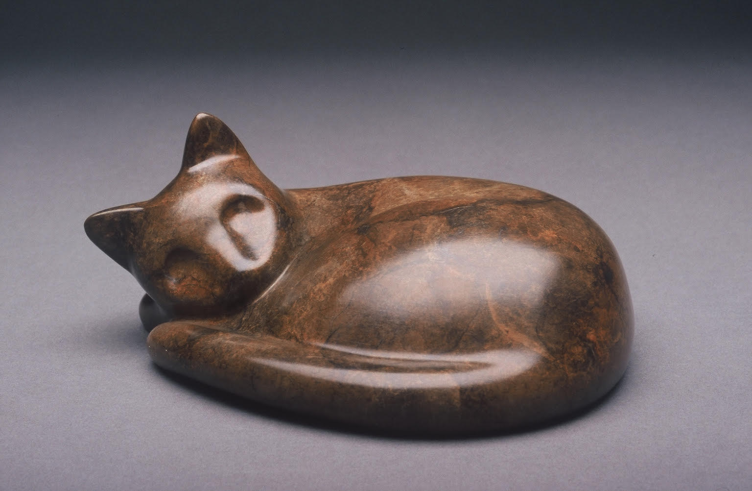 "Cat Napping  4""H x 7"" D x 6""W Bronze edition of 50 Sold Out"