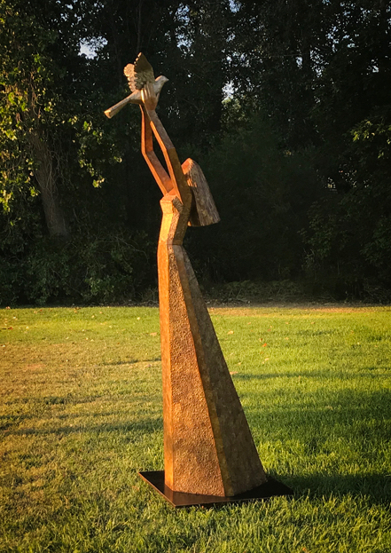 """Letting Go   Bronze edition of 25 76""""H x 19""""W x 31""""D"""