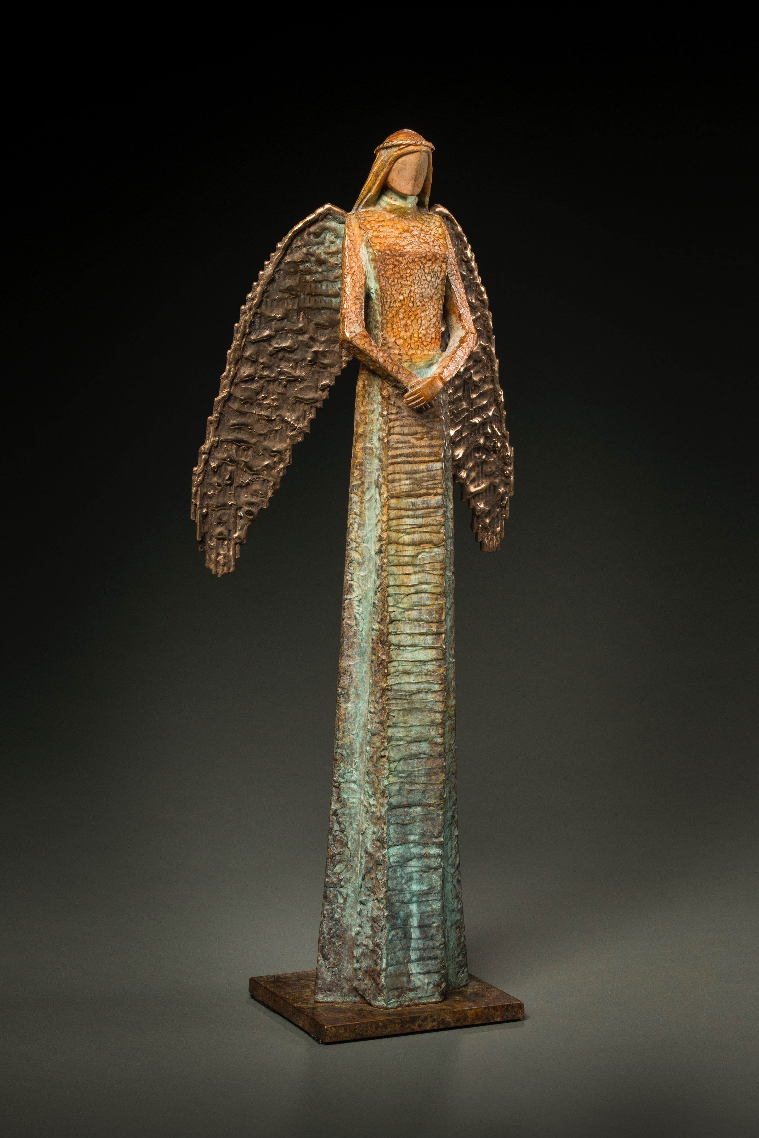 """Be@Peace   Bronze Edition 25 21""""H x 5'W x 4.5""""D"""