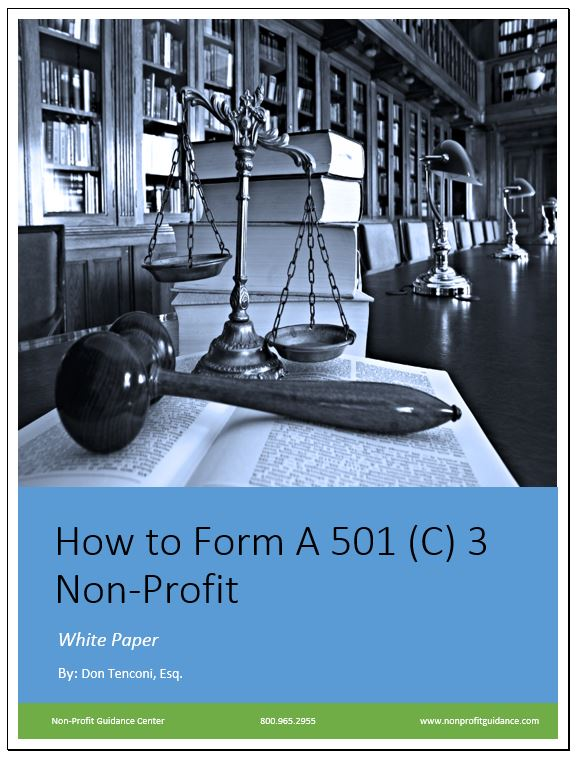 How To Start a 501 C 3 Non-Profit