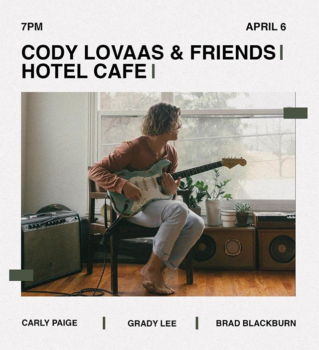 LA! Stoked for this one. @codylovaas putting on another banger. Bio for tickets 🎫