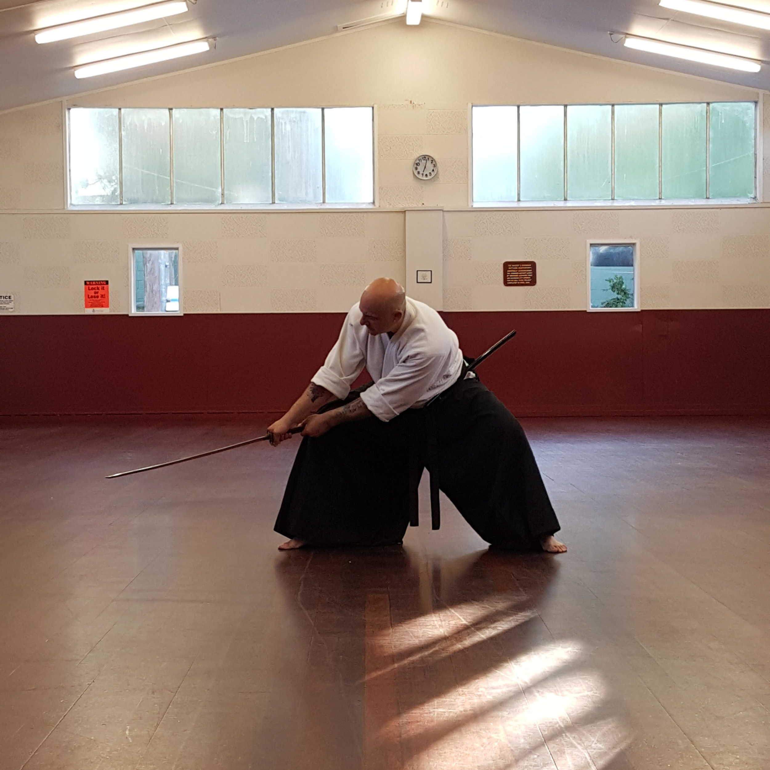 The above photo shows Craig Andrew demonstrating an Aikido move.
