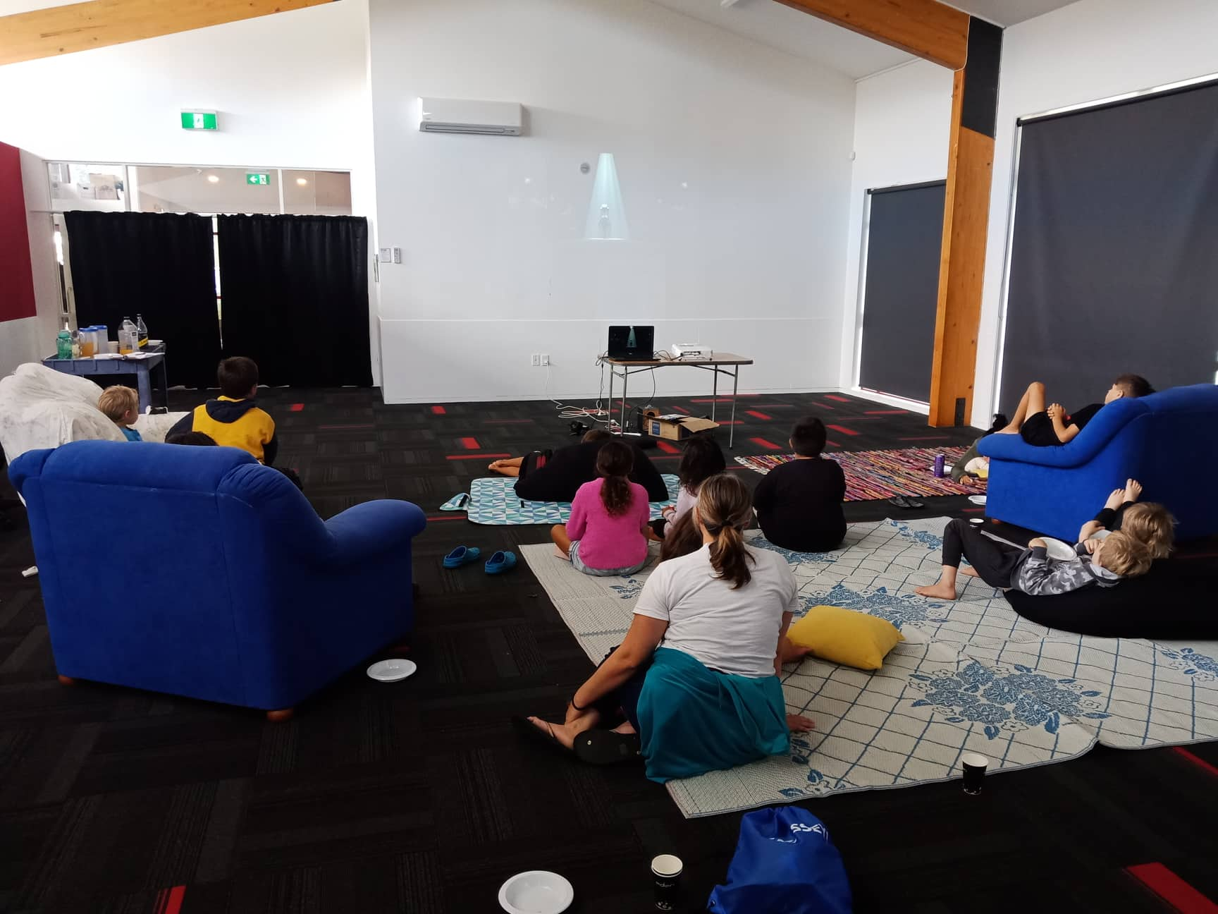 - Movie morning at the Massey Hub. The kids watched MNadagascar 3.
