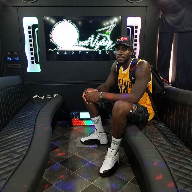 Rakeem Christmas of the Indiana Pacers on Island Vybez Party Bus
