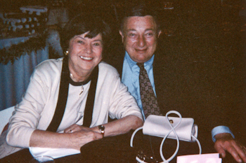 Betty Weiner, with her husband, Morrie.