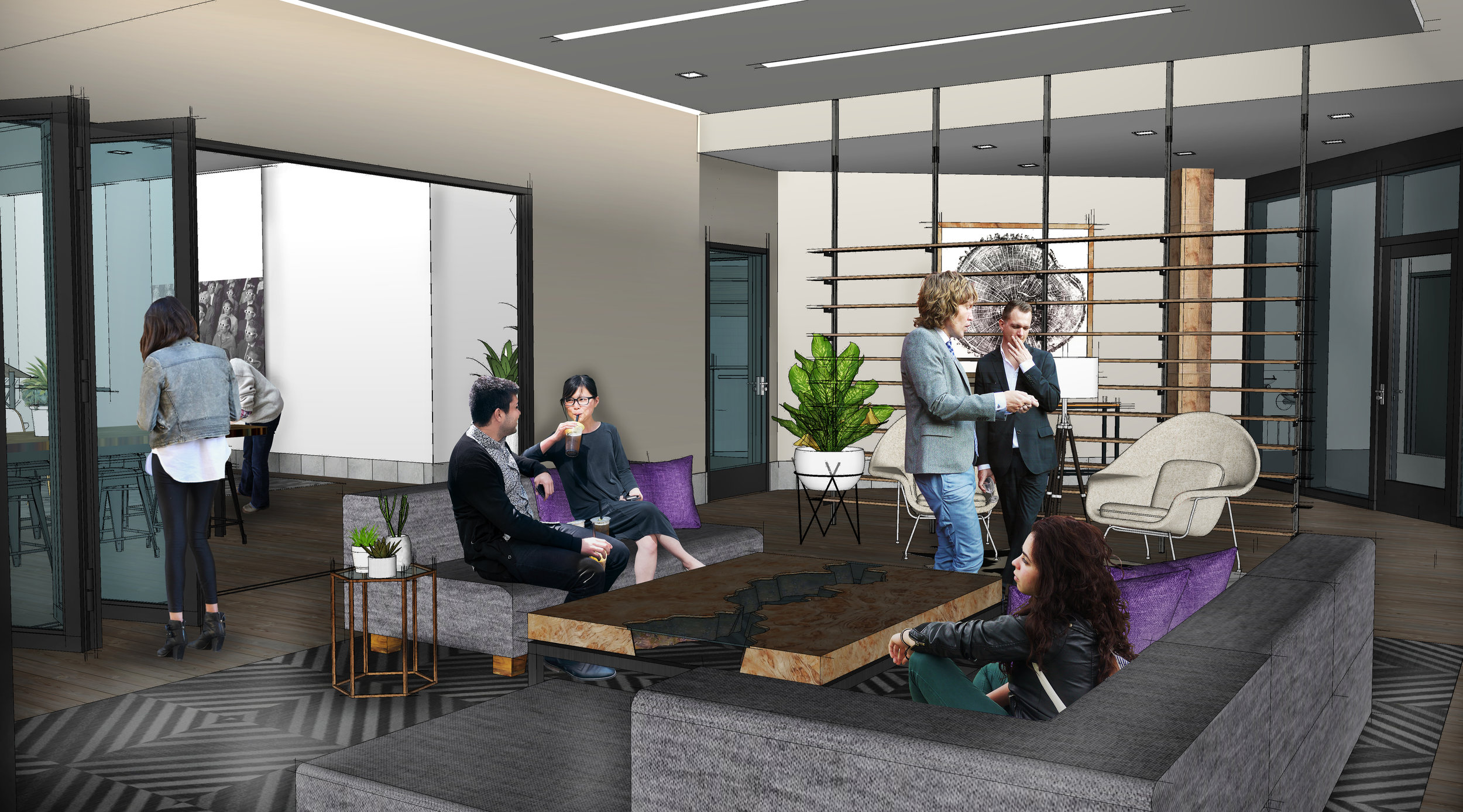 Community Lounge & Living Room