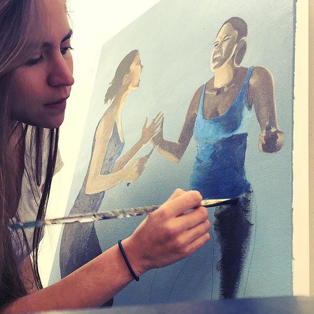 🖌#studiotime #art #painting