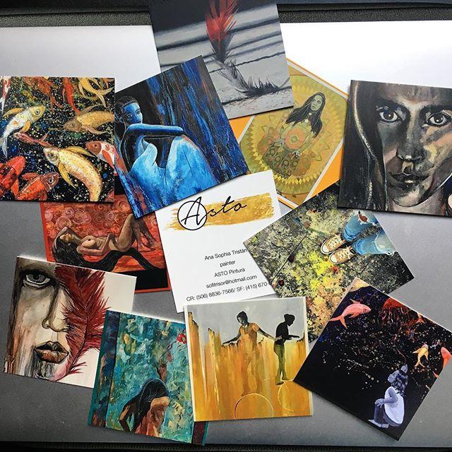 Wohooooo business cards arrived 🙌🏽👊🏽 #astopintura #artist