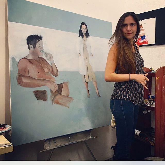 👩🏽🎨#studiotime #art #painting #artist #astopintura #workinprogress