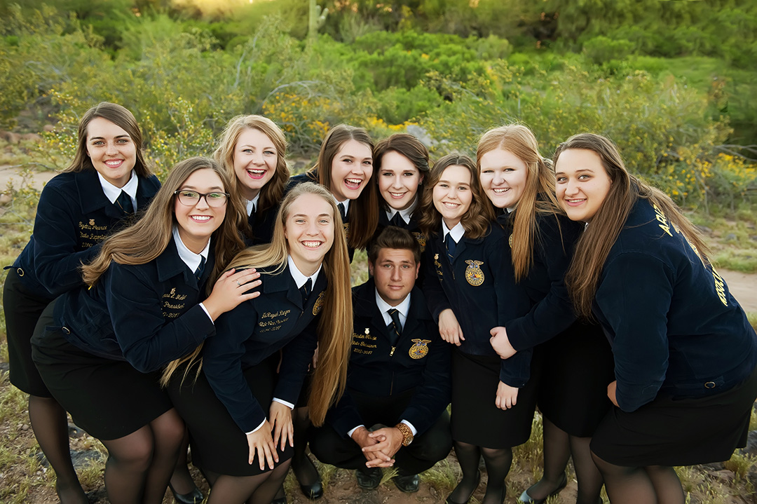 Annily and her Arizona State FFA Officer Team