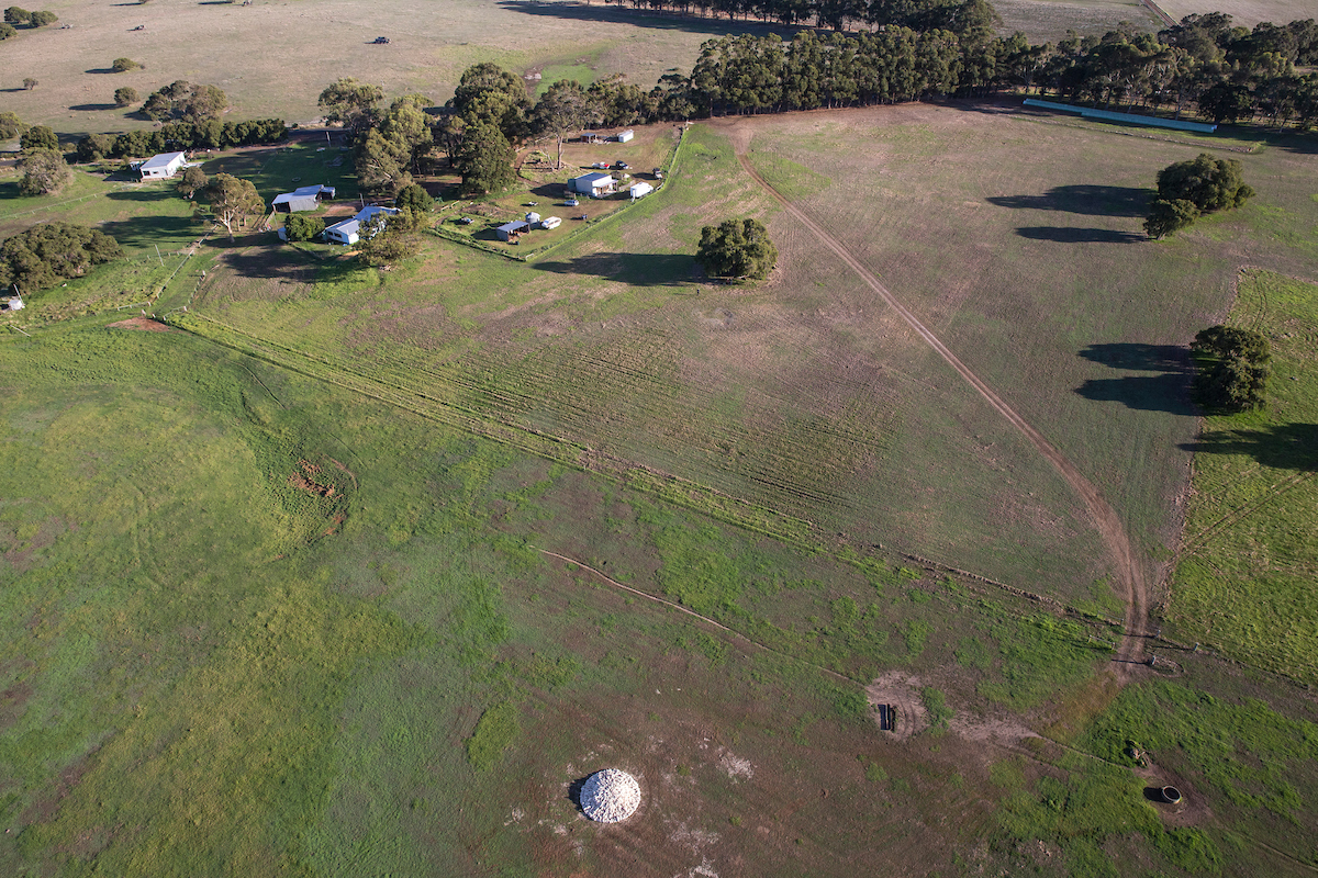 Aerial of Chris Booth sculpture on The Farm MR art and Agriculture-22-1.jpg