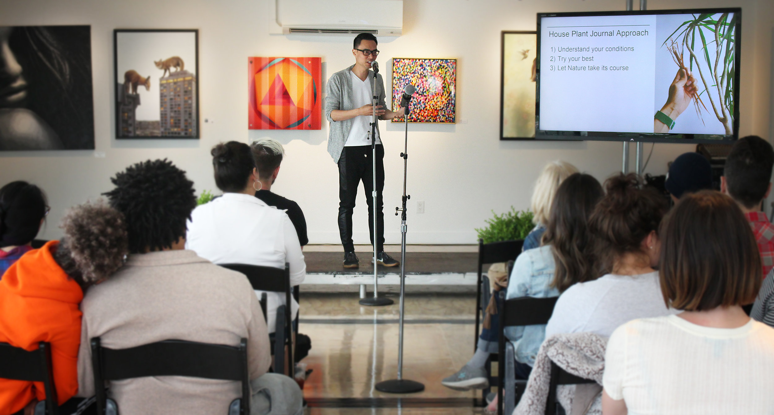 """Insights on Houseplant Care"" - speaking at Stackt Market, June 2019"